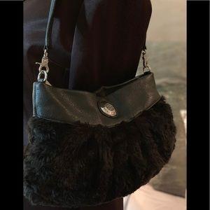 Daña Buchman faux fur bag